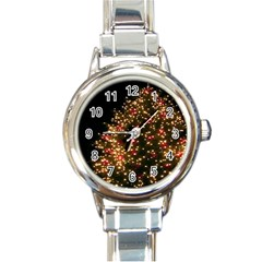 Christmas Tree Round Italian Charm Watch