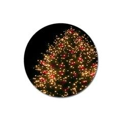 Christmas Tree Magnet 3  (round)