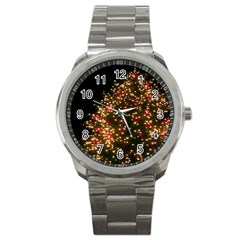 Christmas Tree Sport Metal Watch