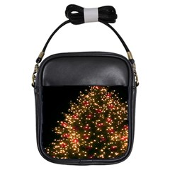 Christmas Tree Girls Sling Bags