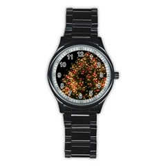 Christmas Tree Stainless Steel Round Watch