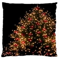 Christmas Tree Large Flano Cushion Case (one Side)