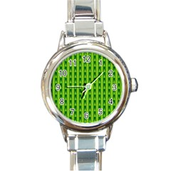 Christmas Tree Background Xmas Round Italian Charm Watch