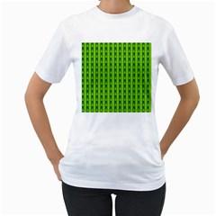 Christmas Tree Background Xmas Women s T-Shirt (White) (Two Sided)