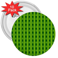 Christmas Tree Background Xmas 3  Buttons (10 Pack)