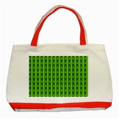 Christmas Tree Background Xmas Classic Tote Bag (Red)