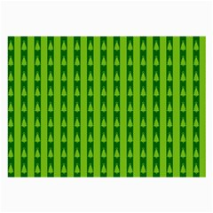 Christmas Tree Background Xmas Large Glasses Cloth