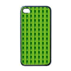 Christmas Tree Background Xmas Apple iPhone 4 Case (Black)