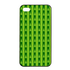 Christmas Tree Background Xmas Apple iPhone 4/4s Seamless Case (Black)