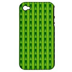 Christmas Tree Background Xmas Apple Iphone 4/4s Hardshell Case (pc+silicone)