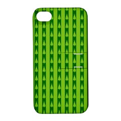 Christmas Tree Background Xmas Apple iPhone 4/4S Hardshell Case with Stand