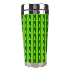 Christmas Tree Background Xmas Stainless Steel Travel Tumblers