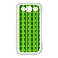 Christmas Tree Background Xmas Samsung Galaxy S3 Back Case (white)