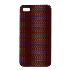 Dna Red Apple Iphone 4/4s Seamless Case (black)