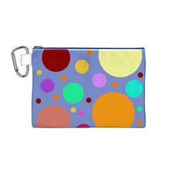 Dotty Canvas Cosmetic Bag (m)