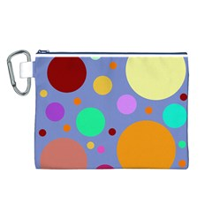 Dotty Canvas Cosmetic Bag (l)