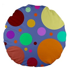 Dotty Large 18  Premium Round Cushions