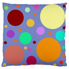 Dotty Large Flano Cushion Case (two Sides)