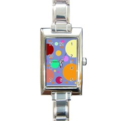 Dotty Rectangle Italian Charm Watch