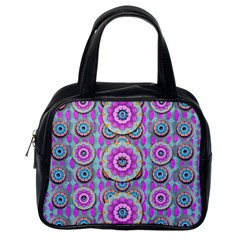 Magic Flowers From  The Paradise Of Lotus Classic Handbags (one Side)