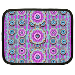 Magic Flowers From  The Paradise Of Lotus Netbook Case (xl)