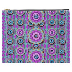 Magic Flowers From  The Paradise Of Lotus Cosmetic Bag (xxxl)