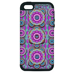Magic Flowers From  The Paradise Of Lotus Apple Iphone 5 Hardshell Case (pc+silicone)