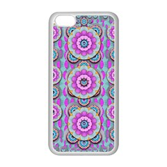 Magic Flowers From  The Paradise Of Lotus Apple Iphone 5c Seamless Case (white)