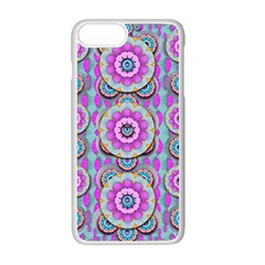 Magic Flowers From  The Paradise Of Lotus Apple Iphone 7 Plus White Seamless Case