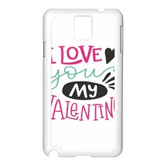 I Love You My Valentine (white) Our Two Hearts Pattern (white) Samsung Galaxy Note 3 N9005 Case (white)