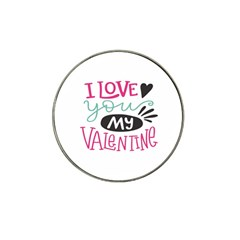 I Love You My Valentine (white) Our Two Hearts Pattern (white) Hat Clip Ball Marker