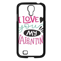 I Love You My Valentine (white) Our Two Hearts Pattern (white) Samsung Galaxy S4 I9500/ I9505 Case (black)