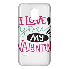 I Love You My Valentine (white) Our Two Hearts Pattern (white) Galaxy S5 Mini
