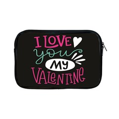 I Love You My Valentine / Our Two Hearts Pattern (black) Apple Ipad Mini Zipper Cases