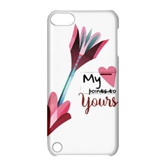 My Heart Points To Yours / Pink And Blue Cupid s Arrows (white) Apple Ipod Touch 5 Hardshell Case With Stand