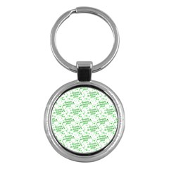 Saint Patrick Motif Pattern Key Chains (Round)