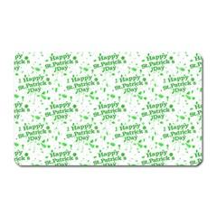 Saint Patrick Motif Pattern Magnet (rectangular)