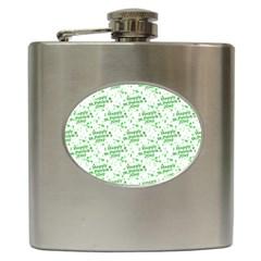 Saint Patrick Motif Pattern Hip Flask (6 oz)