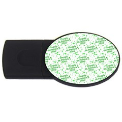 Saint Patrick Motif Pattern USB Flash Drive Oval (4 GB)
