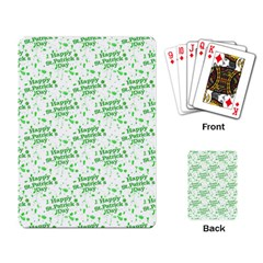 Saint Patrick Motif Pattern Playing Card