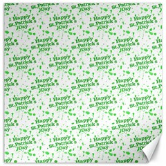 Saint Patrick Motif Pattern Canvas 16  x 16