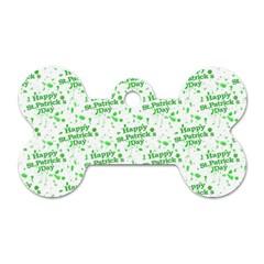 Saint Patrick Motif Pattern Dog Tag Bone (Two Sides)
