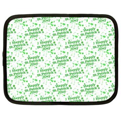 Saint Patrick Motif Pattern Netbook Case (Large)