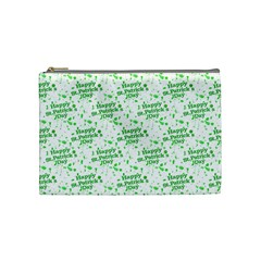 Saint Patrick Motif Pattern Cosmetic Bag (Medium)