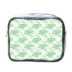 Saint Patrick Motif Pattern Mini Toiletries Bags