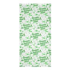 Saint Patrick Motif Pattern Shower Curtain 36  x 72  (Stall)