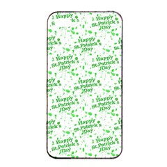 Saint Patrick Motif Pattern Apple iPhone 4/4s Seamless Case (Black)