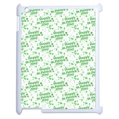 Saint Patrick Motif Pattern Apple iPad 2 Case (White)