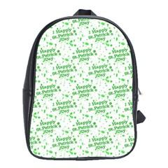 Saint Patrick Motif Pattern School Bags (XL)