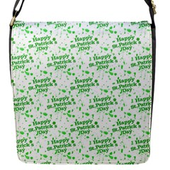 Saint Patrick Motif Pattern Flap Messenger Bag (S)
